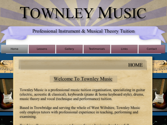 Tablet screenshot of townleymusic.co.uk