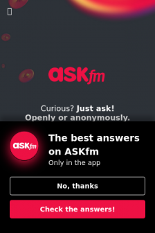 Mobile screenshot of ask.fm