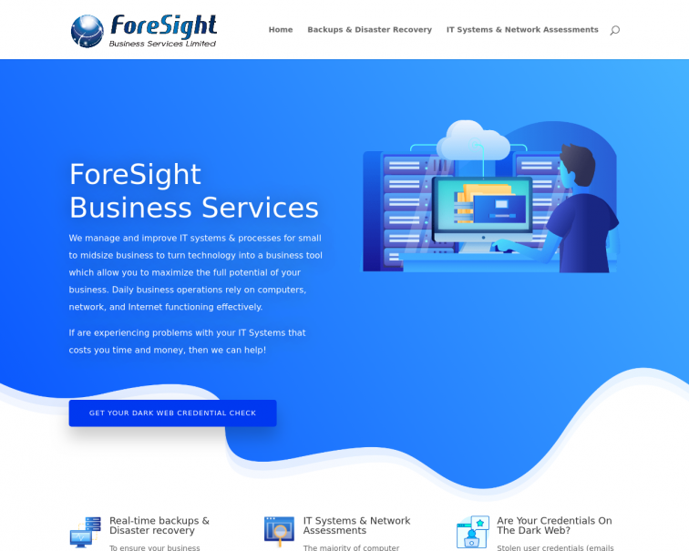 Screenshot of www.foresightbusinessservices.co.uk