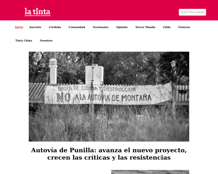 Screenshot of latinta.com.ar