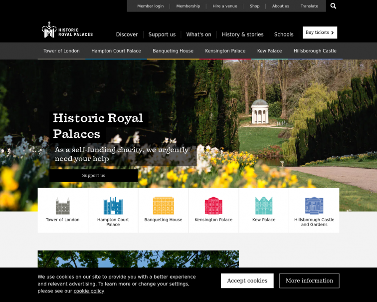 Screenshot of www.hrp.org.uk