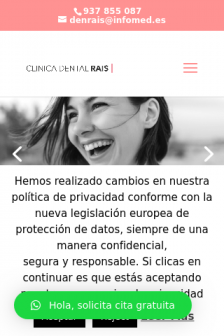 Mobile screenshot of clinicadentalrais.es
