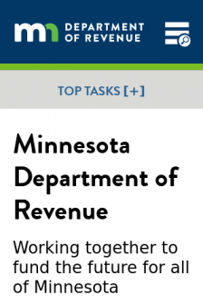 Mobile screenshot of www.revenue.state.mn.us