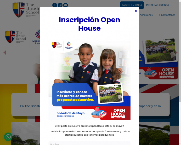 Screenshot of thebritishschoolcali.edu.co