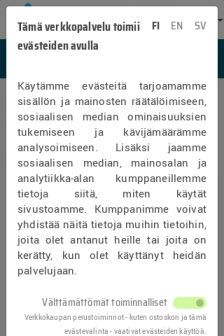 Mobile screenshot of tietokeskus.shop