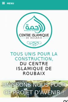 Mobile screenshot of www.centreislamiquederoubaix.fr
