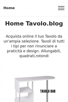 Mobile screenshot of www.tavolo.blog