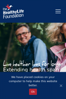 Mobile screenshot of www.thehealthylifefoundation.org