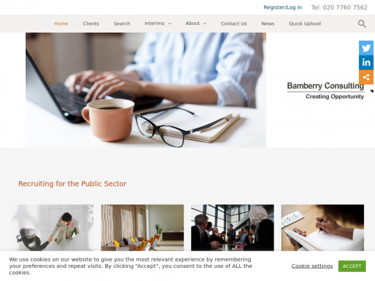 Tablet screenshot of bamberry.co.uk
