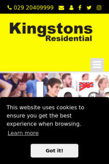 Mobile screenshot of www.kingstonscardiff.co.uk