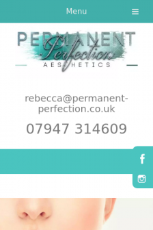 Mobile screenshot of www.permanent-perfection.co.uk