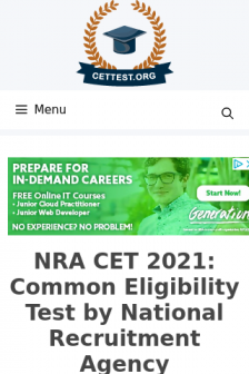 Mobile screenshot of cettest.org