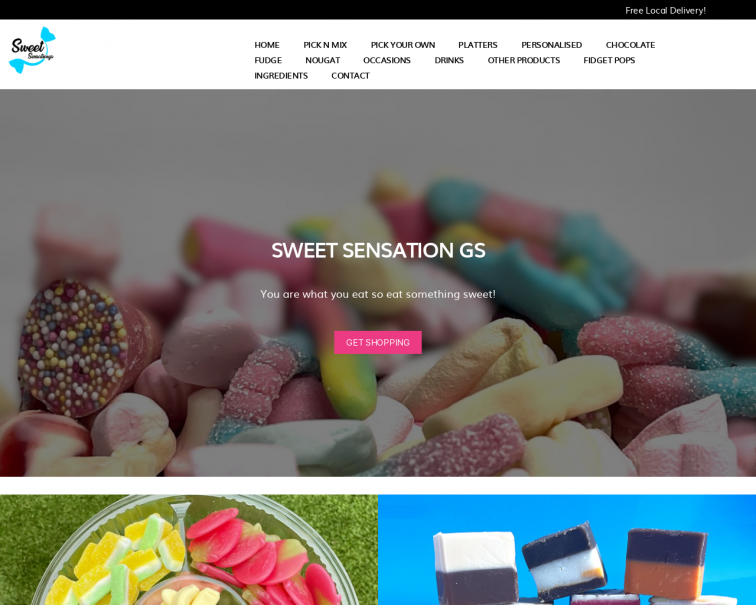 Screenshot of sweetsensationgs.co.uk