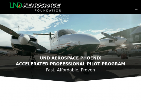 Tablet screenshot of airlinepilot.training