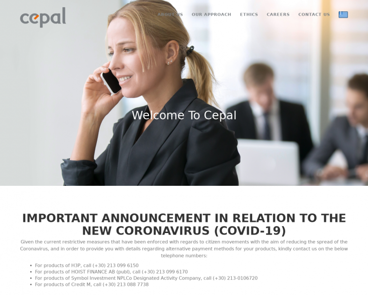 Screenshot of cepal.gr