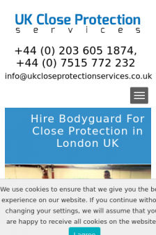 Mobile screenshot of ukcloseprotectionservices.co.uk