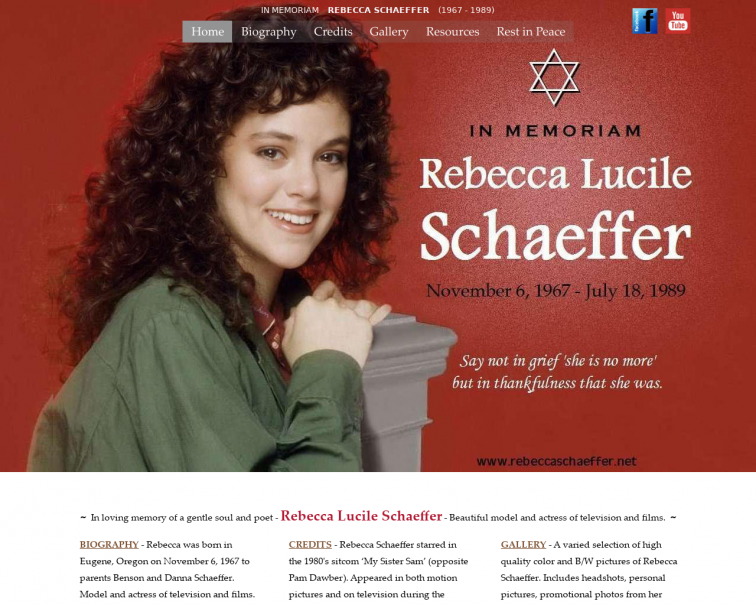 Screenshot of www.rebeccaschaeffer.net