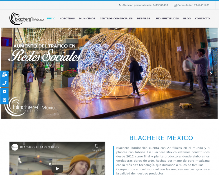 Screenshot of blachere.com.mx