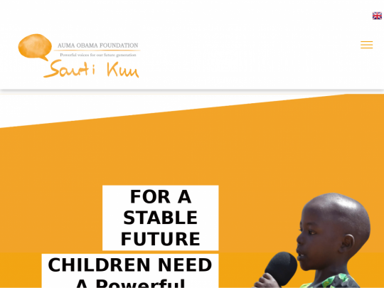 Tablet screenshot of www.sautikuufoundation.org