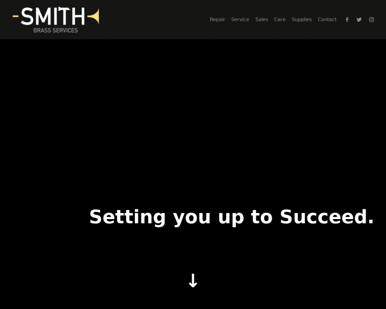 Screenshot of www.smithbrass.services