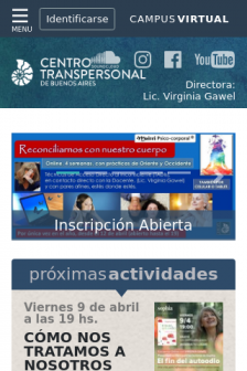 Mobile screenshot of www.centrotranspersonal.com.ar
