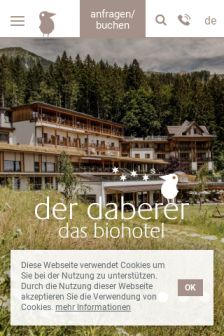 Mobile screenshot of www.biohotel-daberer.at