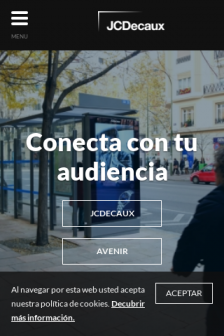 Mobile screenshot of www.jcdecaux.es