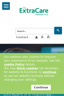 Mobile screenshot of www.extracare.org.uk