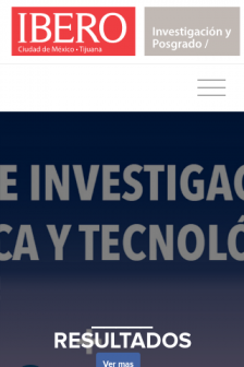 Mobile screenshot of investigacion.ibero.mx