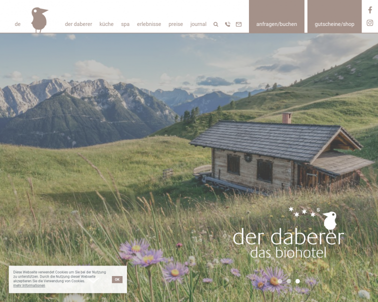 Screenshot of www.biohotel-daberer.at