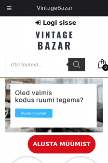 Mobile screenshot of vintagebazar.ee