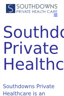 Mobile screenshot of southdownsprivatehealthcare.co.uk