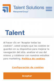 Mobile screenshot of talentsolutions.manpowergroup.com.mx
