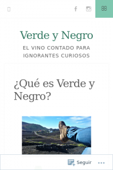 Mobile screenshot of verdeynegro.es