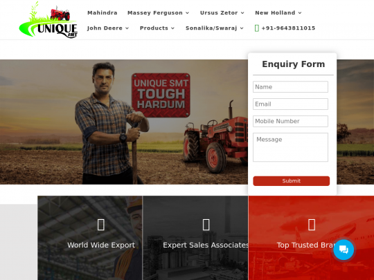 Tablet screenshot of uniqueautoproducts.in