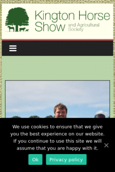 Mobile screenshot of kingtonshow.co.uk
