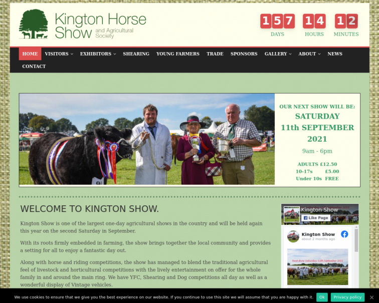 Screenshot of kingtonshow.co.uk