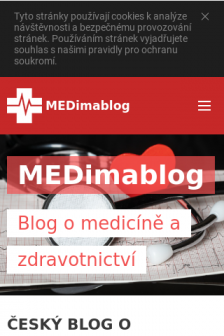 Mobile screenshot of www.medimablog.cz