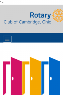 Mobile screenshot of www.cambridgeohiorotary.org