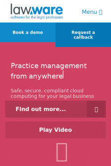 Mobile screenshot of lawware.co.uk