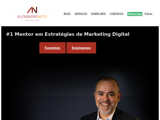 Tablet screenshot of www.alexandreneto.pt