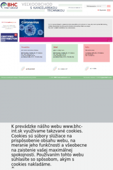 Mobile screenshot of www.bhc-int.sk