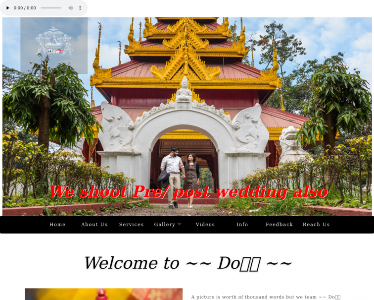 Screenshot of www.doliphotography.in
