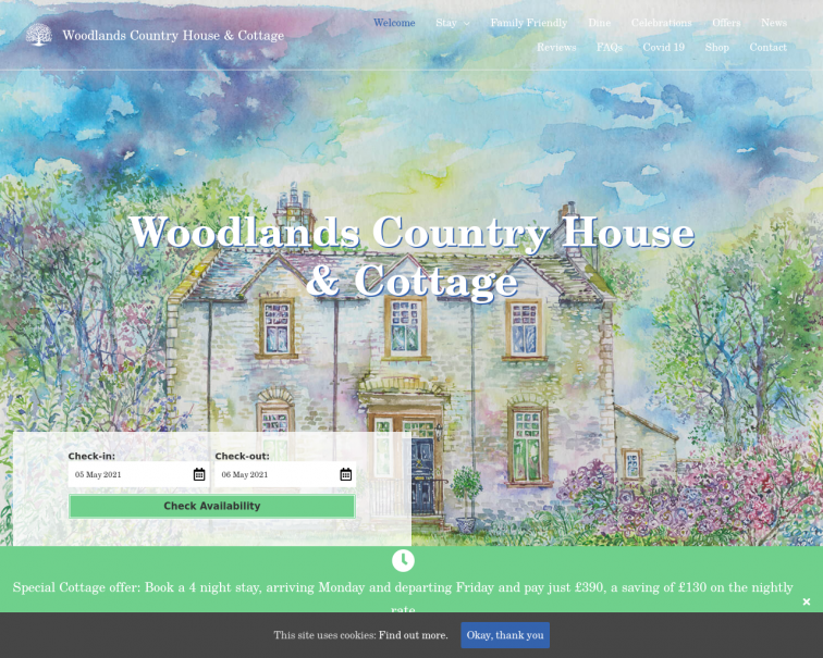 Screenshot of www.woodlandsatireby.co.uk