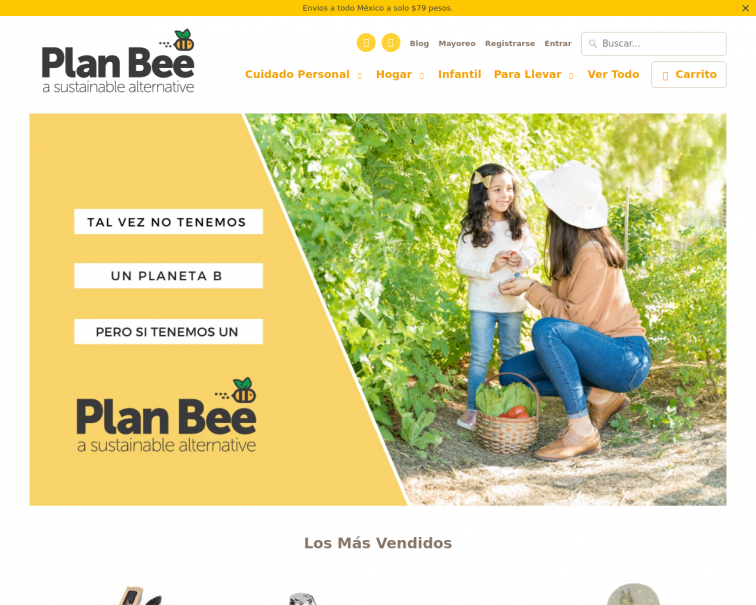 Screenshot of planbee.mx