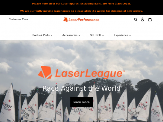 Tablet screenshot of laserperformance.uk