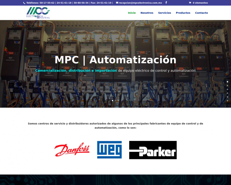 Screenshot of mpc-electronica.com.mx