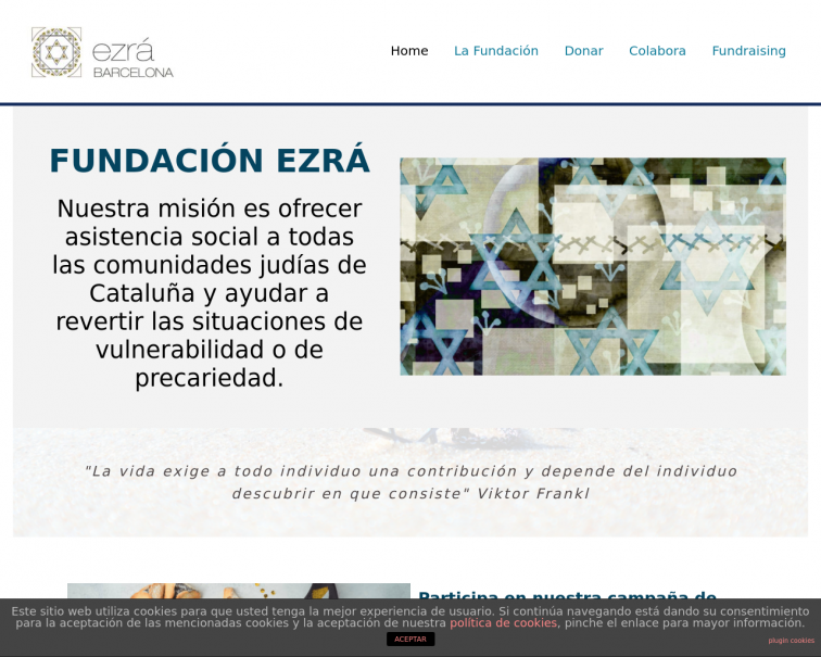 Screenshot of www.fundacionezra.org