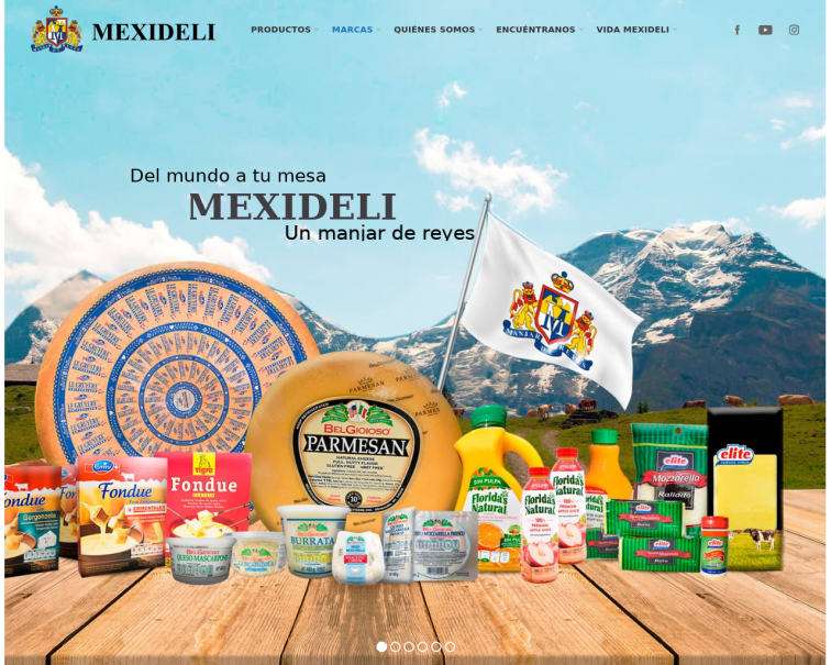 Screenshot of www4.mexideli.com.mx