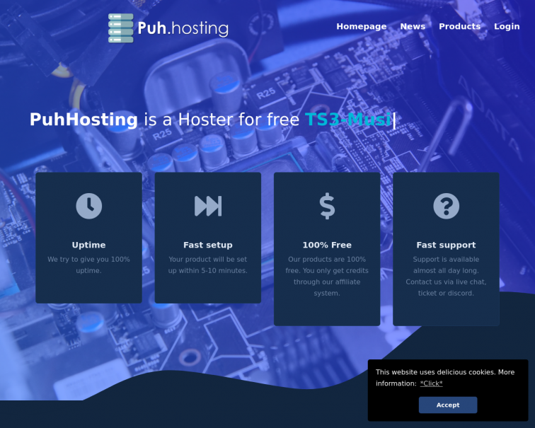 Screenshot of www.puh.hosting